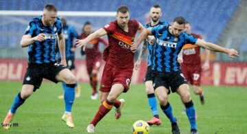Hasil Pertandingan AS Roma vs Inter Milan: Skor 2-2